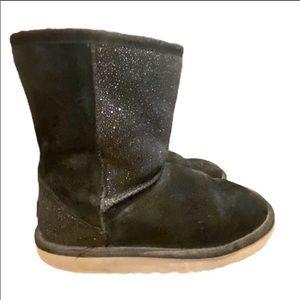 UGG Australia Black Sherpa Bling Shorty Boots 3